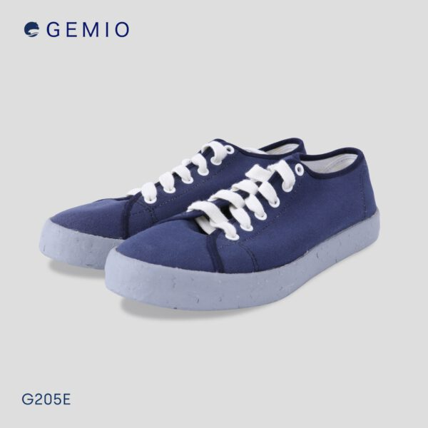 รองเท้าsneakerสีกรม รองเท้าผูกเชือกสีน้ำเงิน